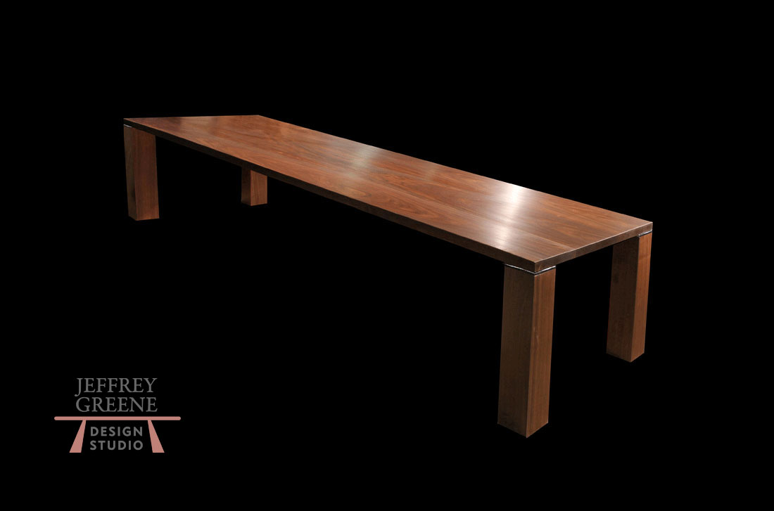 Parson Style Wood Slab Dining Table With Rectangular Wood Slab Top And  Chrome Detail Special Commission