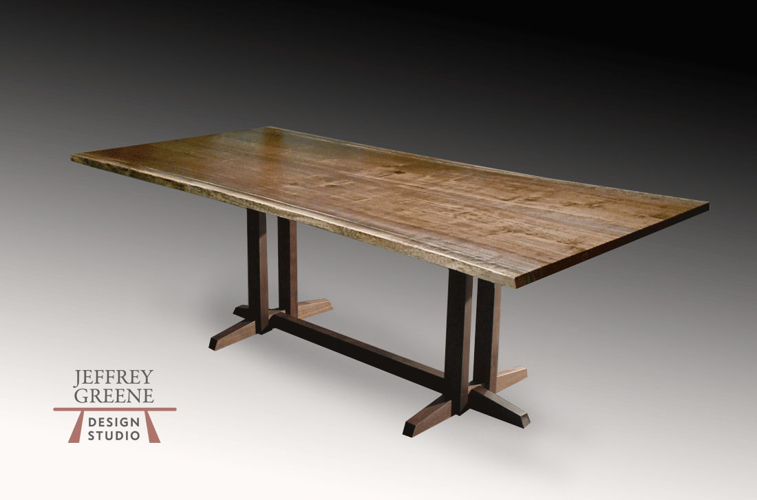 Chinese Puzzle Live Edge Dining Room Table