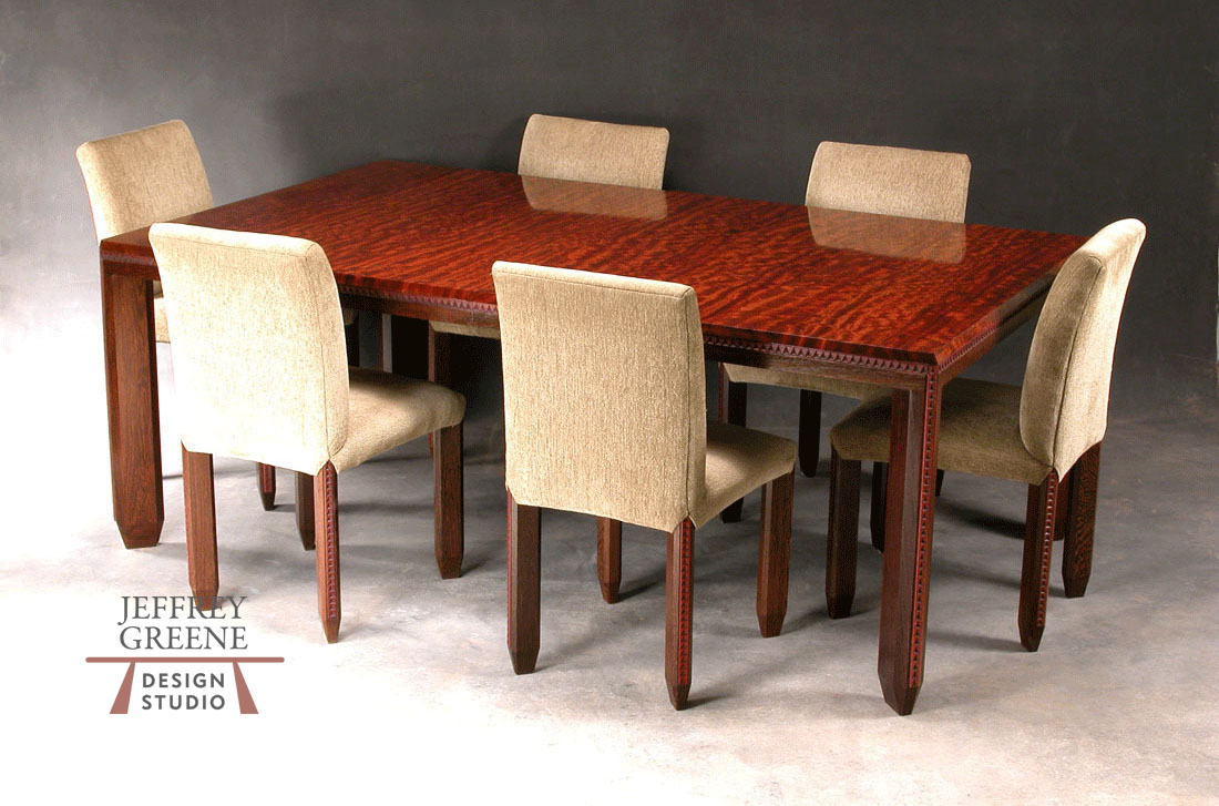 Incised Detail Dining Room Set Jeffrey Greene