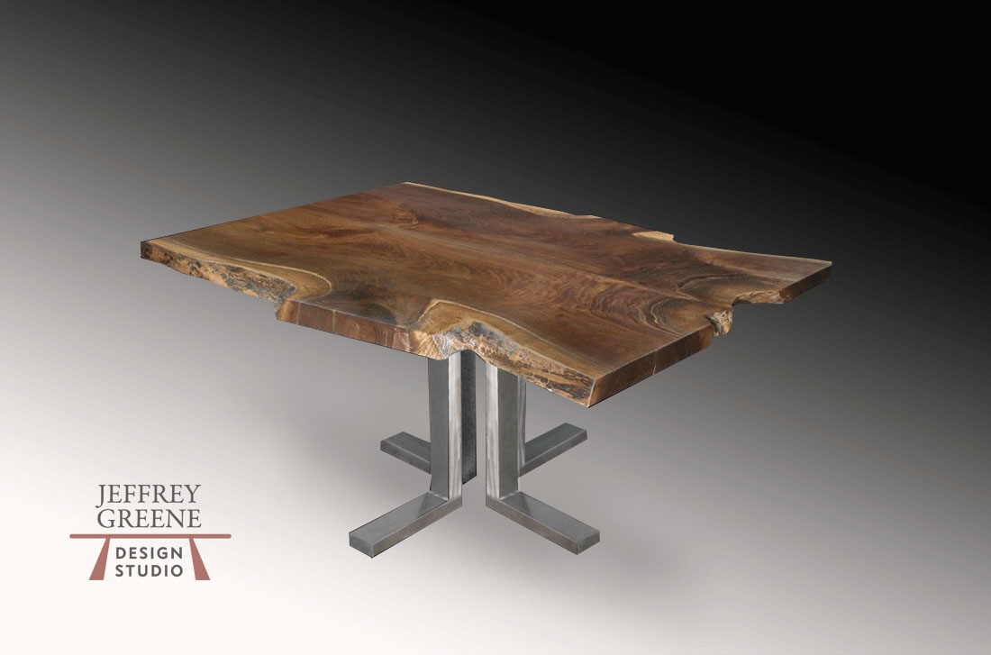 Quadruple L Live Edge Dining Table