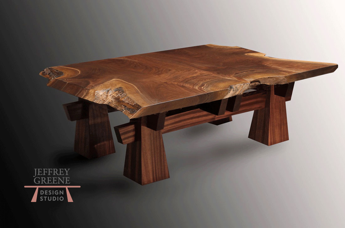 Pyramid Live Edge Coffee Table