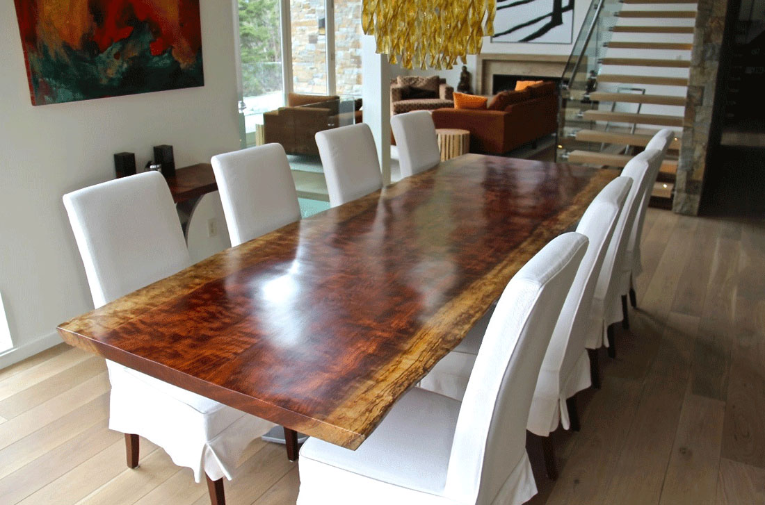 Live Edge Dining Table Customer Portfolio Whistler BC